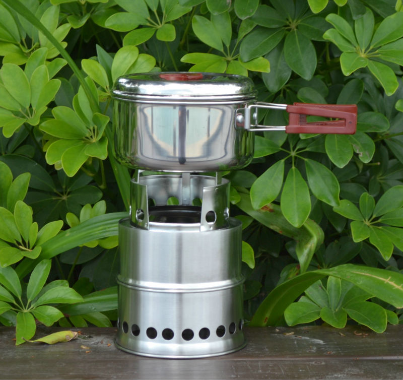 2014 new design Patented products Portable stainless steel wood buring picnic stove(China (Mainland))
