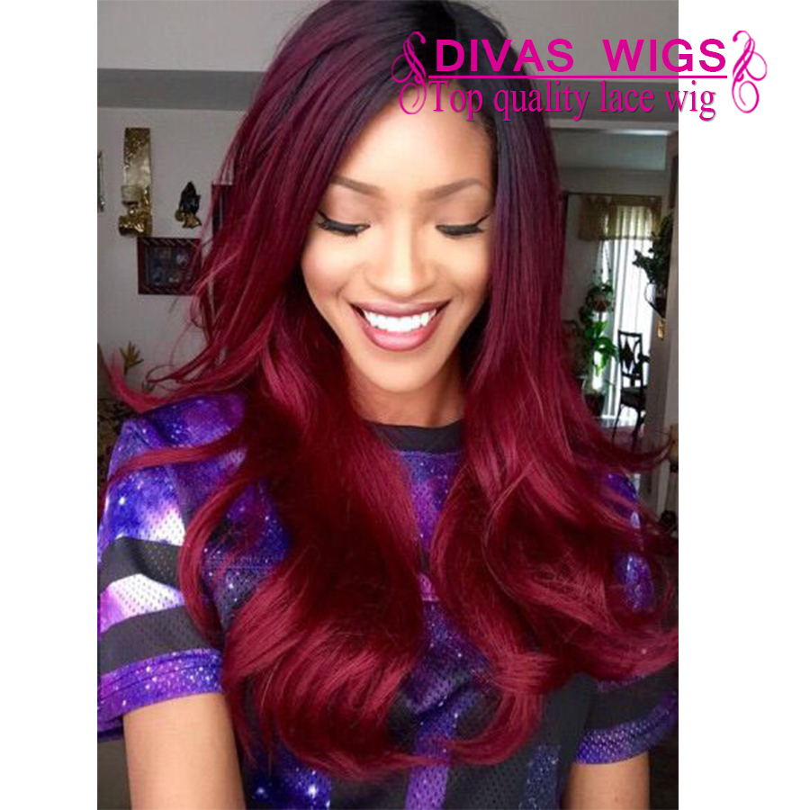 Fashional Wine Red Synthetic Lace Front Wig Heat Resistant 99J color body wavy wig 180% Density Glueless Synthetic Lace Wig<br><br>Aliexpress