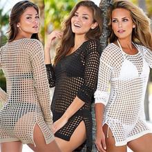 Sexy Swimwear Lace Crochet Cover Up Women 2015 Summer Beach Bikini Cover Ups Fashion Knitting Swimsuit Cover Up Beach Wear 2812(China (Mainland))