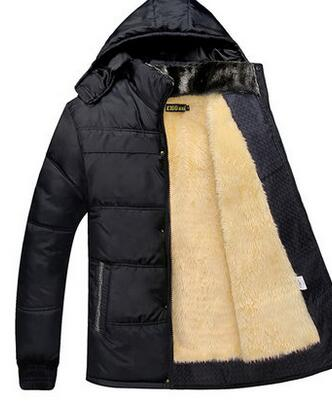 Sell like hot cakes with velvet thickening cotton-padded jacket inside men's winter coat(China (Mainland))