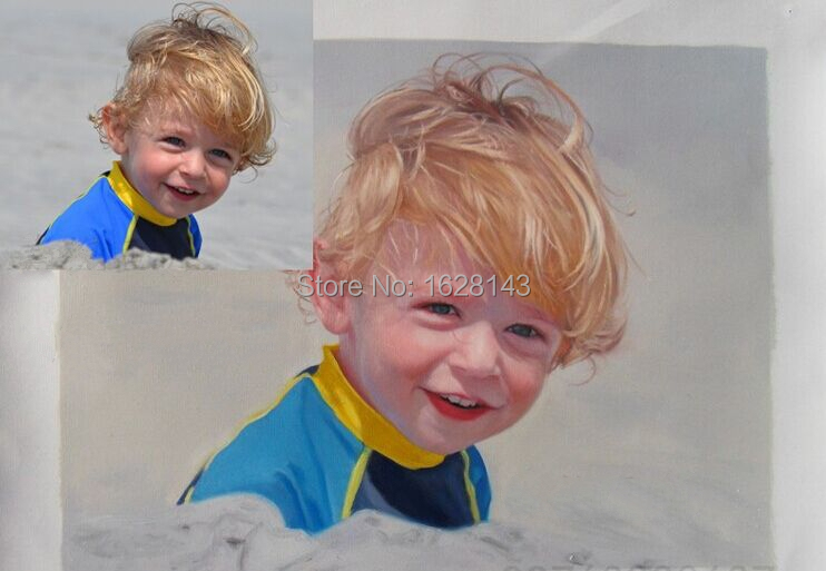 store product Customized portrait Oil Painting Reproduction canvas pictures  hand painted from photos unframed