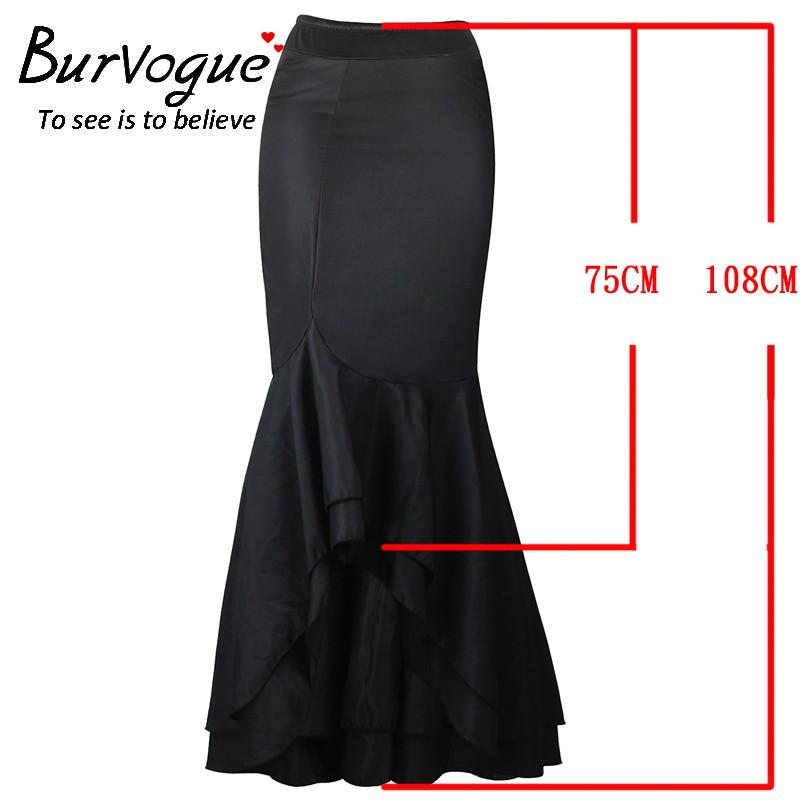 Mermaid Vestidos Perspective Long Maxi Skirts B