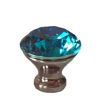 """In Stock Fast Shipping Blue Crystal Drawer Knobs 30mm Cabinet Handle Pull Glass Diamond 1.25"""" Kitchen Cabinet(China (Mainland))"""