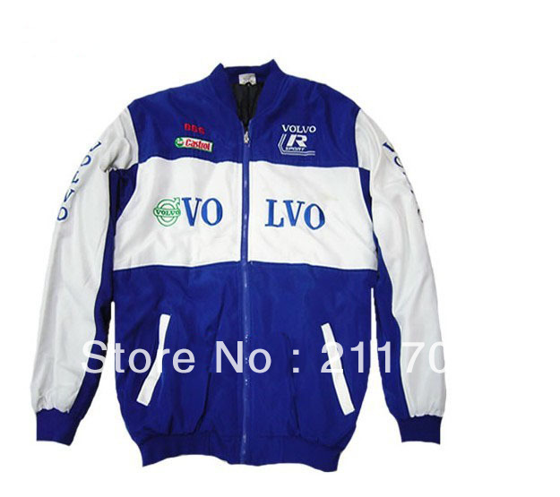 Men's Cotton Jacket, Coat Embroidery Racing Clothes for Logo Volvo Auto Advertising ,Casual Coat(China (Mainland))