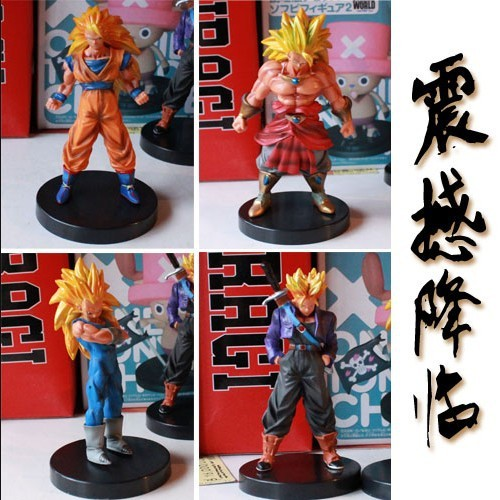Бесплатная доставка японской анимации дракон г 12 см PVC фигурки игрушки модель супер саян 4 шт./компл.