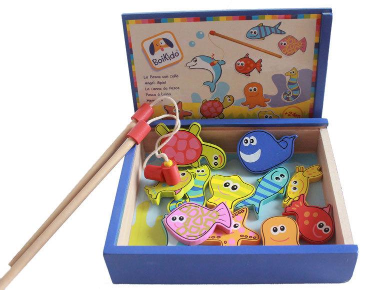 игрушка деревянная рыбалка на магнитах купить