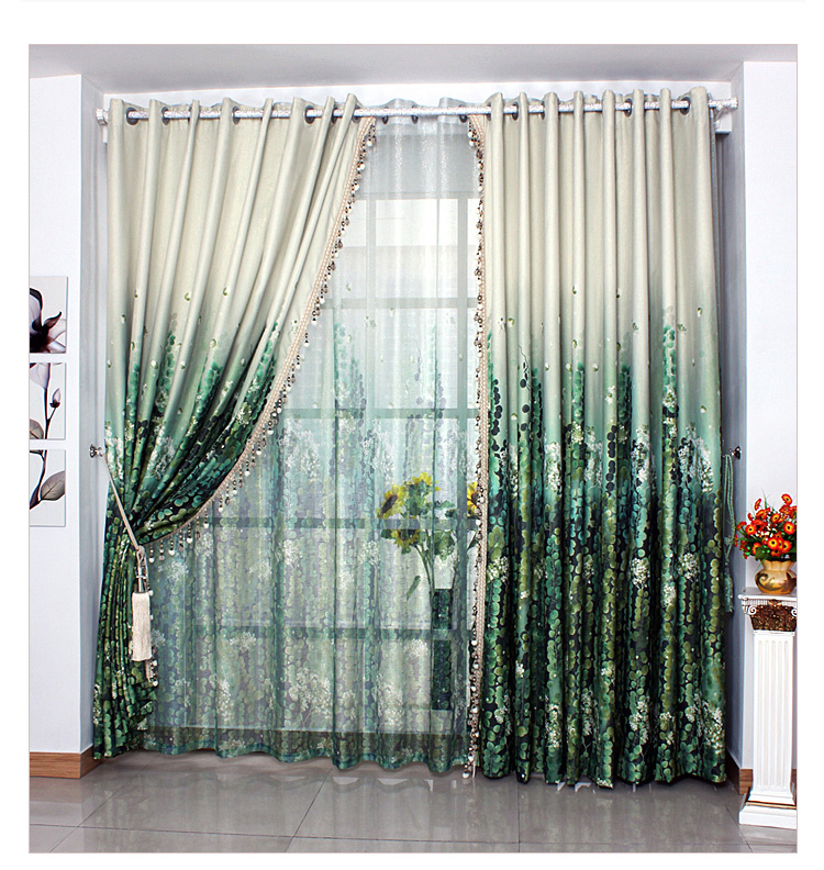 Free shipping bed living room ready made classical dark for M s living room curtains