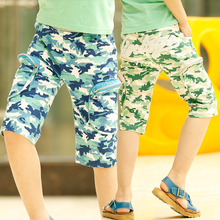 Free shipping new 2015 children's summer clothing children's boy pants Camouflage zipper pocket  JUNGLE FATIGUES knee-length (China (Mainland))