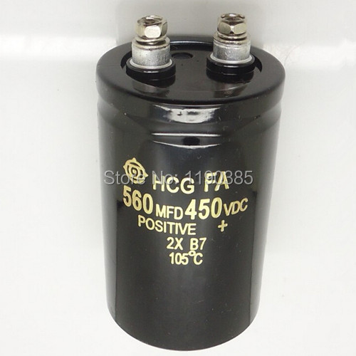 Free shipping Aluminum electrolytic capacitor 560UF 450V 50*80 50MM*80MM Integrated circuit New and original import capacitor(China (Mainland))