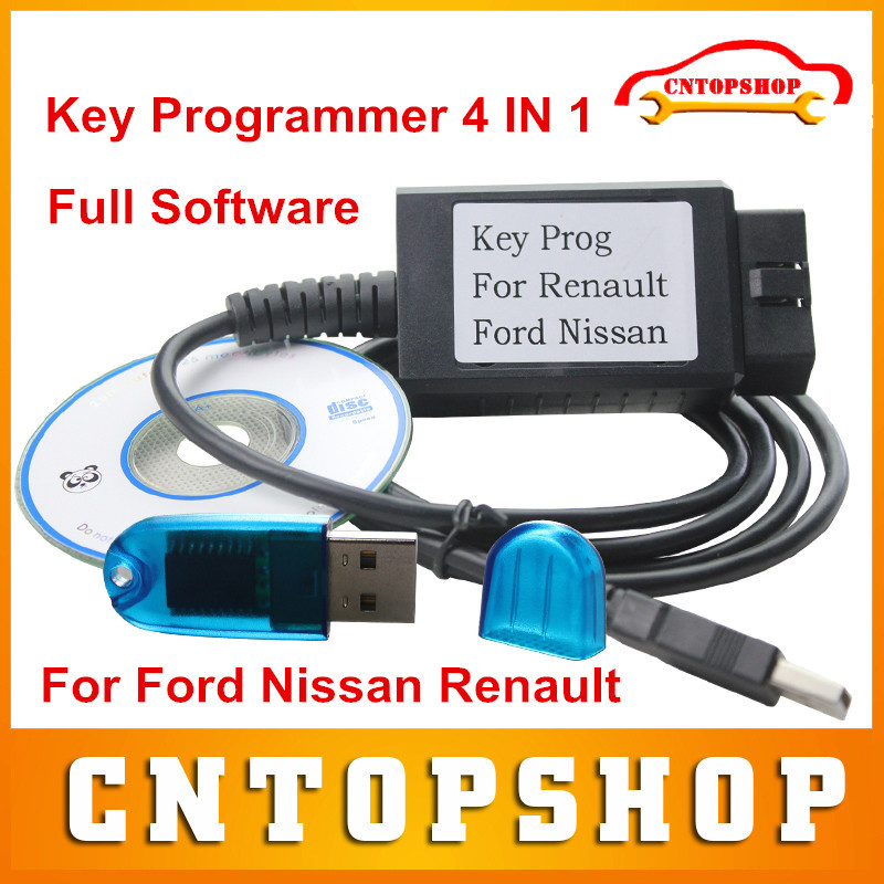 New Arrival Full Software FNR 4 IN 1 Key Programmer For Nissan For Ford Renault Interface With Dongle Auto Key Programmer(China (Mainland))