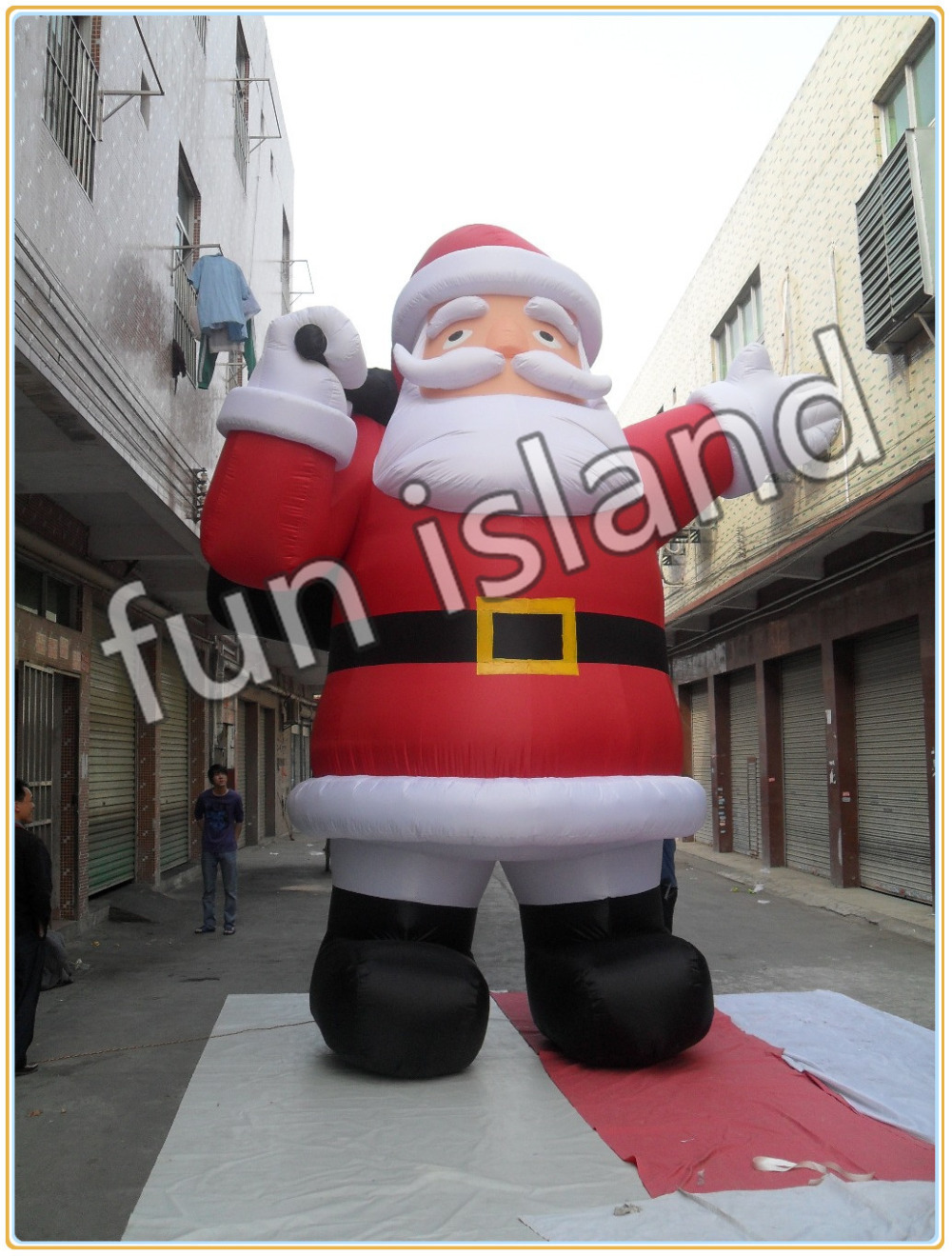 Free shipping inflatable Christmas decoration ,giant inflatable santa(China (Mainland))