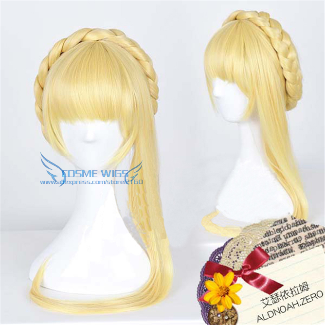 High Quality Aldnoah Zero Asseylum Vers Allusia Platinum Blonde HighTemperature Wire Anime Cosplay Wig Free Shipping<br><br>Aliexpress