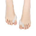 1Pair Silicone Toe Separator Thumb Valgus Protector Bunion Adjuster Hallux Valgus Guard Gel fingers Health Care