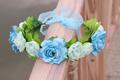 DIY Bridal floral adjustable crown hair wreath kids Breath camellia Flower simple Halo Woodland Hairpiece Wedding