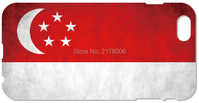 2016 Singapore Flag Cover For iphone 5 5S SE 5C 6 6S Plus Touch 5 6