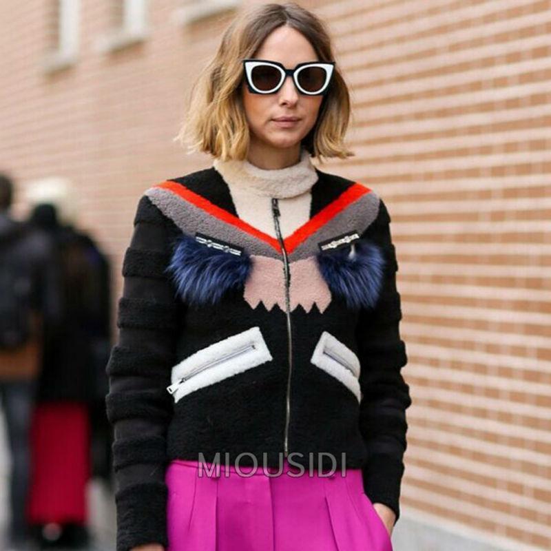 New arrive 2015 women's autumn winter catwalk jacket cartoon embroidery jacket Elegant casual girl outwear coat D4614(China (Mainland))
