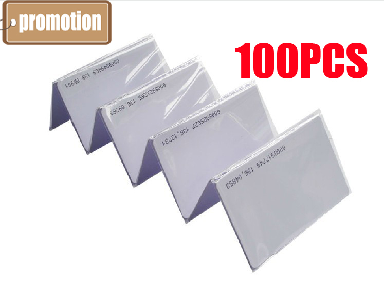 2015 NEW high quality 100pcs 125Khz RFID Proximity Cards Credit Card Size 0.8mm(China (Mainland))