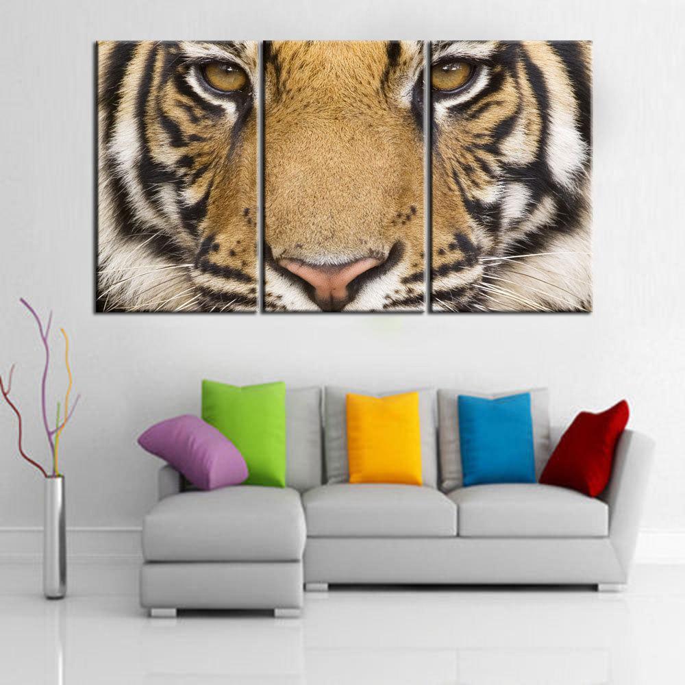 Home Decor HD Print Animal art painting on canvas(No frame) animals india bengal tiger 3PC(China (Mainland))