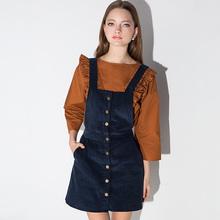 2016 Limited Dress Vestidos De Fiesta Robe Fashion Europe Wind Sweet Single Breasted Suspenders All-match Slim Dress E426 A 1218(China (Mainland))
