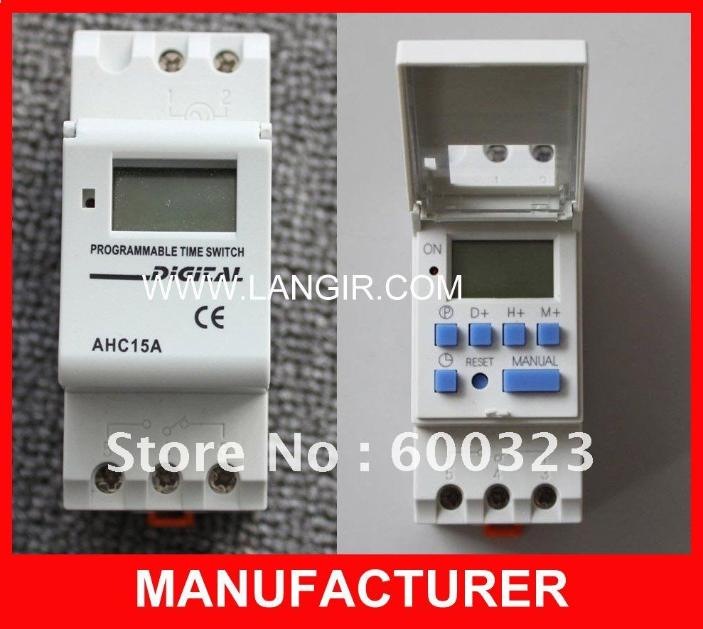AHC15A Microcomputer Electronic Programmable Digital TIMER SWITCH with 250V 16A Din Rail Mount<br><br>Aliexpress