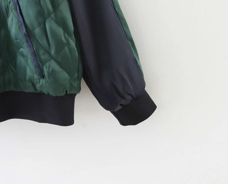 Скидки на Бесплатная доставка вскользь женская одежда с обеих сторон вышивка минималистский двойной цвет сшивание хлопка пальто карман на молнии