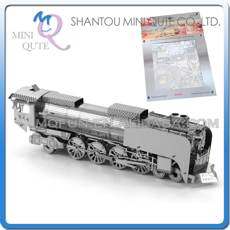 Mini Qute 3D Metal Puzzle Steam Locomotive train warcraft military vehicle Adult kids model educational toys gift NO.ZY205(China (Mainland))