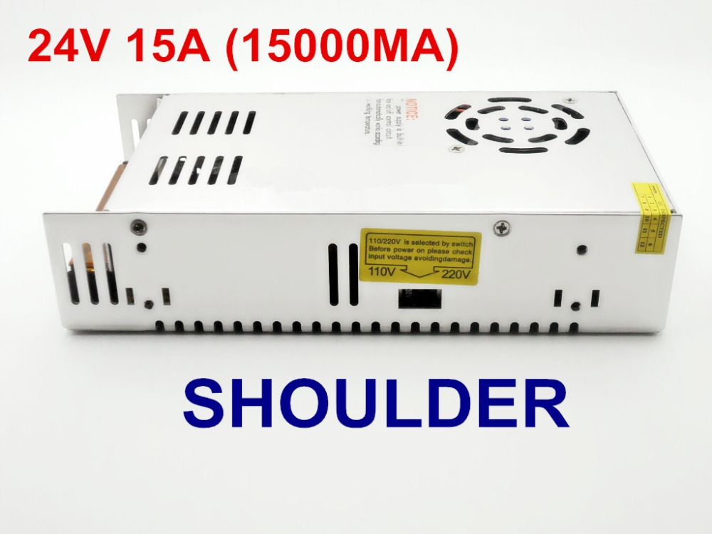 freeship Led control 360W 15A AC 110V-220V to DC 24V Voltage Transformer Switch Power Supply for Led Strip Led Display Power <br><br>Aliexpress