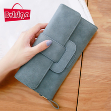 Buy BVLRIGA Women wallets large capacity card holder nubuck leather wallet female clutch bag handbags famous brand long purse simple for $9.05 in AliExpress store