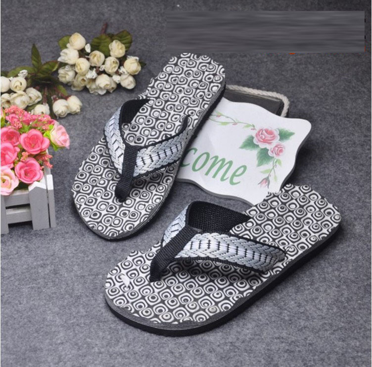 Summer Mens Beach Message Thong Slippers Fashion Round Dot Pattern Flip Flops Comfortble Indoor Bathroom Slides For Men<br><br>Aliexpress