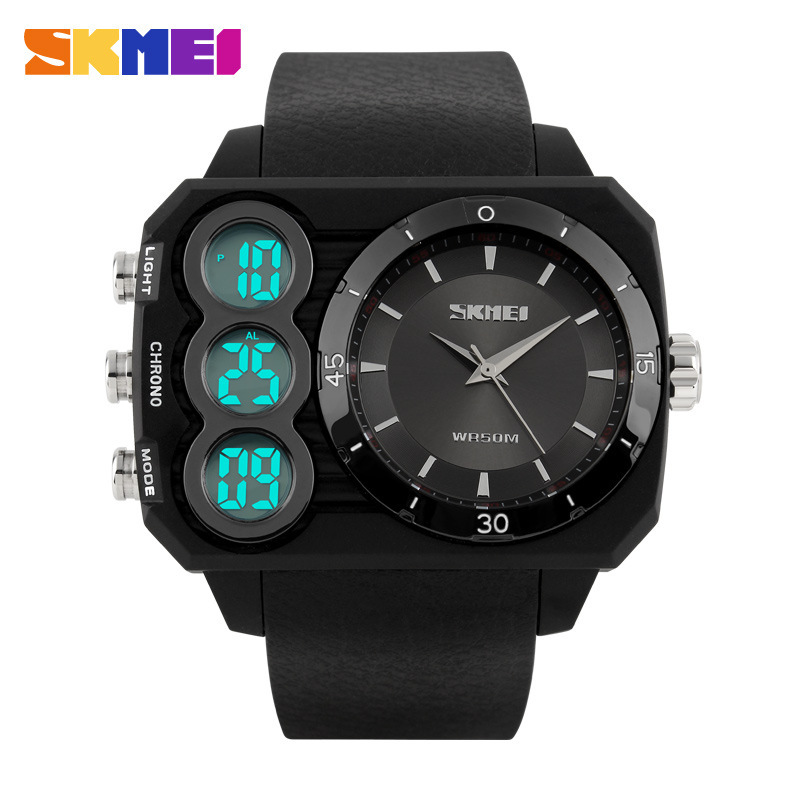 SKMEI Men Sports Watches LED Digital Quartz Watch Waterproof Outdoor Dress Solar Watches Military Watch relogio masculino 2015
