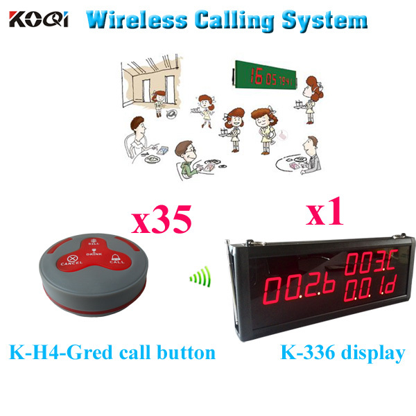Restaurant Call Systems Best Price New Arrival Catering Equipments Suit For Hotel (1 display 35 call button)(China (Mainland))