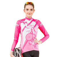 SANTIC Outdoor Sports Riding Women Bicycle Cycling Bike Outdoor Sports Clothing Long Sleeve Jersey Shirt Top S-XL Comfortable