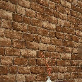 Pvc vinyle tan papier peint vintage briques en relief - Papier peint brique relief ...