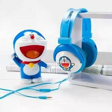 2016 Doraemon Headphone with Mic for Iphone 5 5s 6 6plus foldable cute MP3 player music stereo kids headset cartoon headband AY1