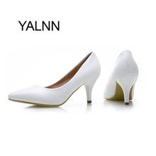 Мода Новые Высокие Каблуки Насосы Черный Женская Обувь Насос Девушки Кожа 7 см Толщиной Пятки Черные Ботинки для Повелительницы Офиса(China (Mainland))