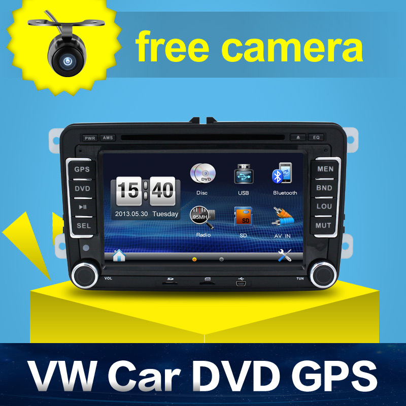 Hot Sale 2 DIN Car DVD for VW JETTA GOLF MK5 MK6 GTI PASSAT B6 POLO SKODA Fabia GPS Navigation Radio USB/SD PC country map(China (Mainland))
