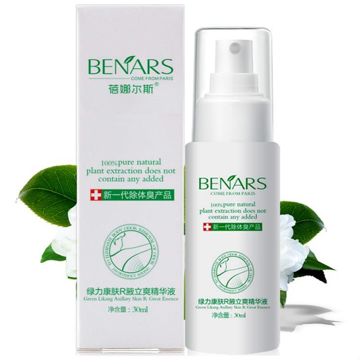 Skin Care Hot Sale 30ml Brand BENARS Women Antiperspirant Deodorants Treatment, Underarm Armpit/Body/Foot Odor Remover Spray(China (Mainland))