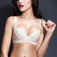 Free Shepping Graceful Women Adjustable Non Padded Push-up Underwire Solid Bra 32 34 36 38 40 C D DD