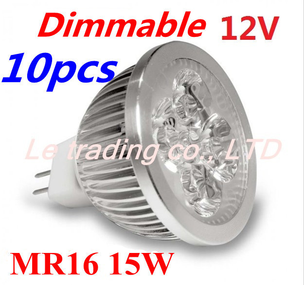 10pcs/lot MR16 5X3W 15W Dimmable Led Lamp Spotlight Led Light Downlight 12V  Free shipping