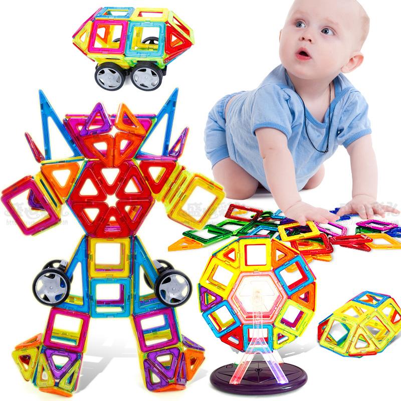 Mini 115Pcs/Set Models & Building Toy Magnetic Designer Educational Building Blocks Plastic Assemble Enlighten Bricks Kids Toys(China (Mainland))