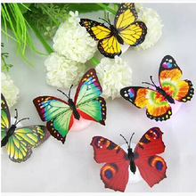 Luminous Flowers Butterfly Nightlight Small Night Lamp Wall Lights Indoor Lighting Toys For Children Luminarias Home Decoration(China (Mainland))