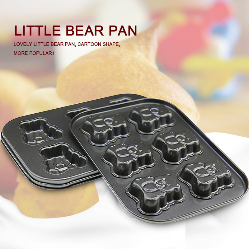 Home baking cake bakeware / aluminum cookware Bear biscuit mold household goods(China (Mainland))