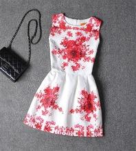 Fashion Brand Vintage Party Floral Print Tutu font b Flower b font font b Girls b