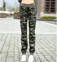 #3512 New 2015 Summer camouflage pants women Camouflage Cargo pants women Military fashion Casual sports outdoor Loose Baggy(China (Mainland))