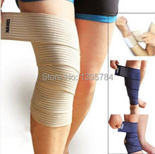 2pcs/lot free shipping 2014 new  high quality elastic wrap knee support  bandagem elastica elastico para joelho kinesio tape