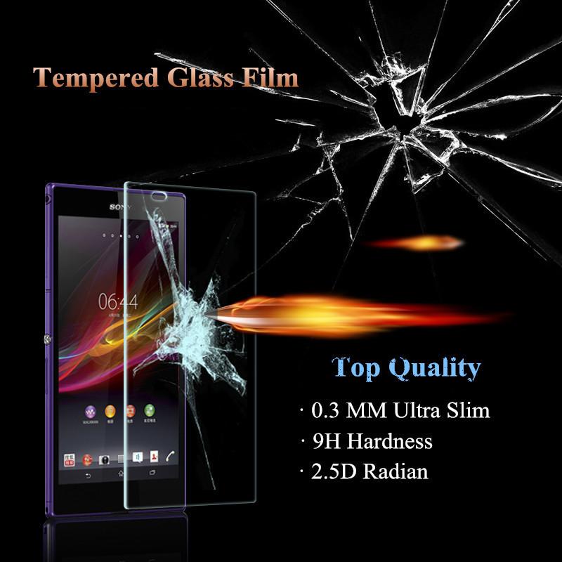 Amazing 9H 0.3mm 2.5D Nanometer Tempered Glass screen protector for Sony Xperia M4 Aqua E2303 E2353 E2306 E2333 E2363 E2312(China (Mainland))