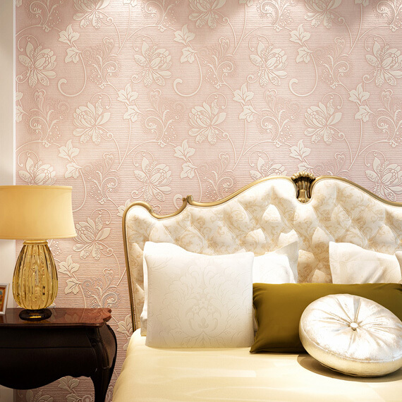 Pink Wallpaper For Bedroom Home Design Ideas And Pictures