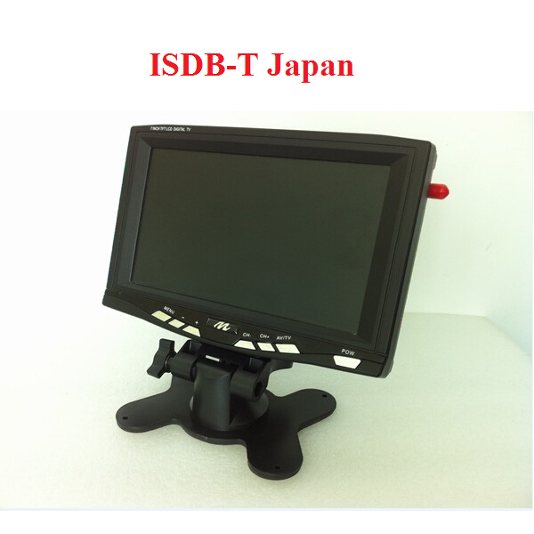 7 Inch TFT LCD Monitor HD 800*480 ISDB-T Japan Digital TV 1 video input / output 1 audio output Fit All Car M-7686R(China (Mainland))