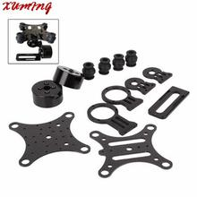 New Black 2 Axis Carbon Brushless Camera Gimbal Frame Free Shipping(China (Mainland))