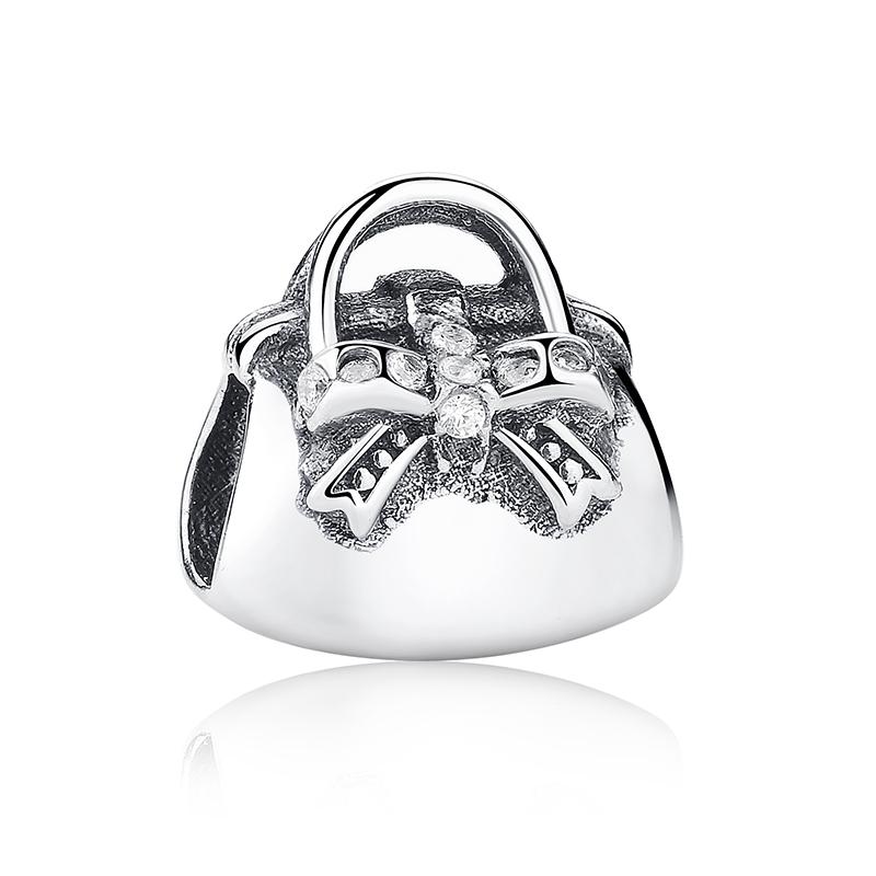 cheap authentic designer handbags 7hwo  100% 925 Sterling Silver Soild Handbag Charm Bead Fit European Bracelet  Authentic Luxury DIY Jewelry
